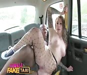 Female taxi driver fucks black passenger