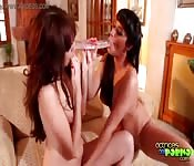 Two hot-body lesbians enjoys each other