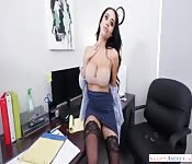 Busty secretary POV fucking in the office
