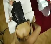 German in leather pants fucked