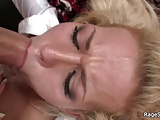 Brutal deepthroat blowjob