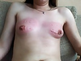 self punishment for her tits
