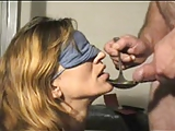 Blindfolded Mature Cum Play