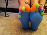 Amateur Teen Toe Socks and Bare Feet