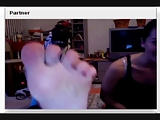 Three czech teens show their feet on chatroulette