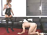Ella Kross:Tongue Boot Cleaning