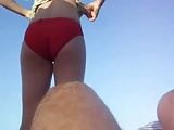 MILF Changing At The Beach