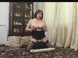 Mature in Stockings on her Sex Machine
