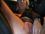 Fucking in public garage with facial