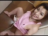 Japanese mature in the kitchen