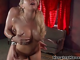 Kagney Linn Karter swallows masseurs cum