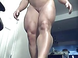 Fitness girl shows her body