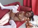 Young black chick gets good fucking