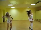 sexy white skirt dance by russian girls